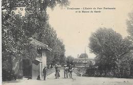 31, Haute Garonne, TOULOUSE, L'Entrée Du Parc Toulousain, Scan Recto-verso - Toulouse