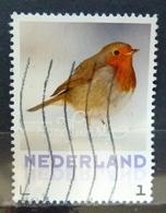 2018 Netherlands Birds,oiseaux,vögel,roodborstje Used/gebruikt/oblitere - Period 2013-... (Willem-Alexander)