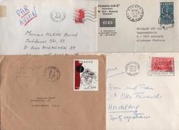 Lot De 8 Lettres De France Destination Allemagne - Période Nouveaux Francs - Postmark Collection (Covers)