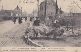 BELGIQUE-YPRES-GUERRE DE 1914-transport De La Paille Vers Les Tranchées-( Tampon Ambulance-le Mèdecin Chef )voir 2 Scans - Andere