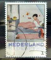 Netherlands Kind In Bed Used/gebruikt/oblitere - Nederland