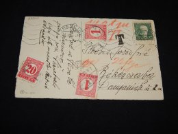 Czechoslovakia 1931 Trencin Postafe Due Postcard To Hungary__(L-23900) - Czechoslovakia