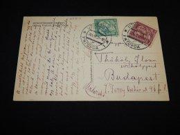 Czechoslovakia 1935 Ozero Postcard To Hungary__(L-23912) - Czechoslovakia