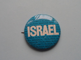 """"""" ISRAEL """" - Old BUTTON ( From The '60 / '70 ) Edit. > U.S.A. ( +/- 4 Cm. ) See For Detail ! - Pin's"""