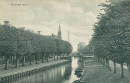 Sloten; Dorpsgezicht - Niet Gelopen. (D. F. Brouwer, Rijwielhandel) - Pays-Bas