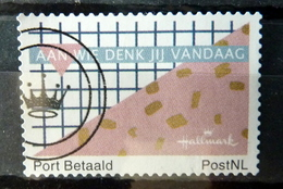 Netherlands Port Betaald,Hallmark,aan Wie Denk Jij Vandaag Used/gebruikt/oblitere - Nederland