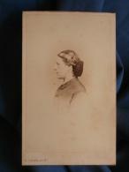 Photo CDV D. Camus à Nogent/Seine - Second Empire Portrait Femme De Profil, Mme Langlois Née Dubois, Vers 1860 L389F - Foto