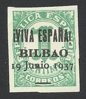 Spain, Bilbao 1 C. 1937, Mi # 1, MH - Nationalist Issues
