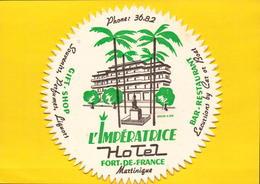 Martinique, Fort De France, Hotel L Imperatrice     (bon Etat) - Hotel Labels