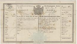 Passeport Endingen 1816 Ribeauvillé Héraldique - Documentos Históricos
