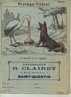 Protege Cahier Ancien  Le Renard Et La Cigogne - Book Covers