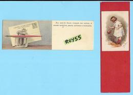 Cartoline Sengnalibro Baby Card Bambina (elda Cenni ILL.) Penna Calamaio Inchiostro (2 Cards Cm.4,30 X 14 Cm.) Dittico - Cartoline