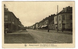Bourg-Léopold - Place Royale Et Rue Jacolet / Koninklijke Plaats En Jacoletstraat - Edit. Liévin Soeurs -  2 Scans - Leopoldsburg