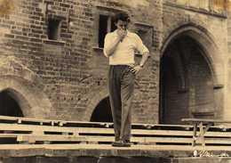 Vème Festival D'Avignon (1951)  Gérard PHILIPE Répétition Dans La Cour D'Honneur  Photo ATZINGER. - Artistes