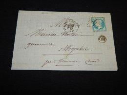 France 1867 Avesnes-sur-Helpe Letter__(L-20110) - France