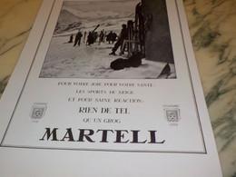 ANCIENNE PUBLICITE COGNAC  MARTELL 1939 - Alcohols