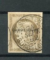 !!! PRIX FIXE : GUADELOUPE, N°12 OBLITERE SIGNE. SUPERBE - Guadeloupe (1884-1947)