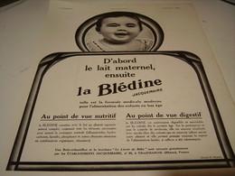 ANCIENNE PUBLICITE ENSUITE BLEDINE  DE JACQUEMAIRE 1930 - Posters