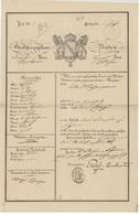 St.Blasien -Sankt Blasien Baden Passeport Légation à Karlsruhe 1826 - Documentos Históricos