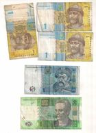 Ukraine - 3x 1 Hryvnia / Hryvni - 5 Hryvnia / Hryvni - 20 Hryvnia / Hryvni - Ukraine