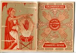V Shakers Revue - Calendrier 1902 - Guide Pour L'étude De La Chiromancie (4 Scans) - Calendars