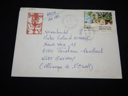 French Polynesia 1986 Tahiti Air Mail Cover To Germany__(L-20877) - Lettres & Documents