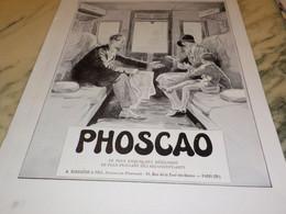 ANCIENNE PUBLICITE EN TRAIN  CHOCOLAT PHOSCAO  EXQUIS 1930 - Posters