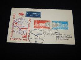 Germany (Democratic Republic) 1960 First Flight Leipzig-WIen__(L-20222) - Briefe U. Dokumente