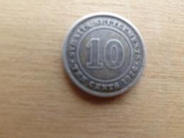 Straits Settlements  10  Cents  1926  Km 29b  Argent - Monnaies