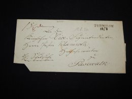 Germany 1837 Torgelow Prephilately Letter__(L-20645) - Germania
