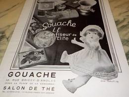 ANCIENNE PUBLICITE CONFISEUR DE L ELITE GOUACHE 1929 - Affiches