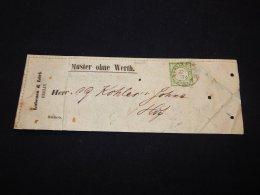 Germany 1874 Berlin Muster Ohne Werth__(L-20638) - Deutschland