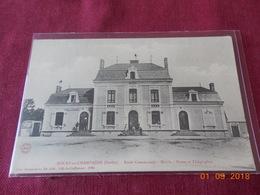 CPA - Rouez-en-Champagne - Ecole Communale - Mairie - Postes Et Télégraphes - France