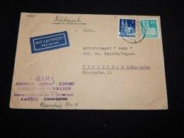 Germany Bizone 1948 Aachen Gama Business Cover__(L-19968) - Bizone