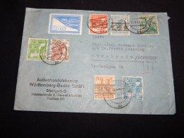 Germany Bizone 1948 Stuttgart Handelskontor Business Cover__(L-20055) - Zone Anglo-Américaine