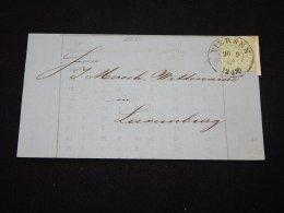 Germany Norddeutscher 1868 Viersen Letter Front To Luxemburg__(L-20627) - Conf. De L' All. Du Nord