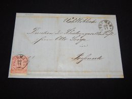 Germany Norddeutscher 1869 Tuemar Letter__(L-20620) - Conf. De L' All. Du Nord
