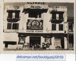 PHOTO ANCIENNE - Salle De Cinéma OLYMPIA - INDOCHINE HANOI ?  Le Diable Blanc  7/11/49 - Lieux