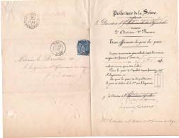 Saint Germain En Laye 1881  Taxe Officieuse Du Prix Du Pain Adressé à L'hospice De St Germain - Vieux Papiers