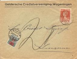 Switzerland, 21.7.1924 Cover From  Nederland To Luzern, Porto, Zu 41, See Scans! - Cartas