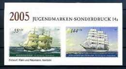 A14827)Schiffe: Bund Vignettenblock - Schiffe
