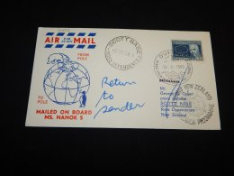 Greenland 1969 Mailed On Board Ms.Nanok Cover__(L-21452) - Briefe U. Dokumente