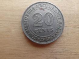 Malaya  20  Cents  1948  Km 9 - Malaysie
