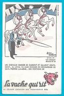 Buvard La Vache Qui Rit Série Le Cirque N°10 Illustrateur Mr Loyal Et Chevaux - Produits Laitiers