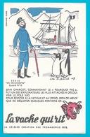 Buvard La Vache Qui Rit Série Les Découvertes N°6 Jean Charcot - Produits Laitiers
