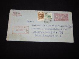 India 1987 Aerogramme To Germany__(L-21895) - India