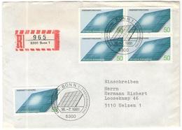GERMANIA - GERMANY - Deutschland - ALLEMAGNE - 1981 - Energieforschung - FDC - Bonn - Einschreiben - Registered - [7] Federal Republic