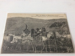 07 - Le Château De Retourtour Belles Ruines Baignées Par Le Doux écrite - France