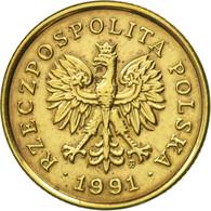 Monnaie, Pologne, 5 Groszy, 1991, Warsaw, TTB+, Laiton, KM:278 - Pologne