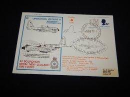 New Zealand 1977 Operation Icecube 12 Flight 6 Cover__(L-22389) - New Zealand